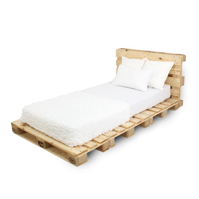 tek kişilik palet yatak başlıklı