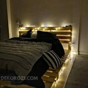 led ışıklı palet yatak