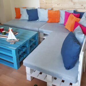l palet koltuk modeli ve ve mavi palet sehpa