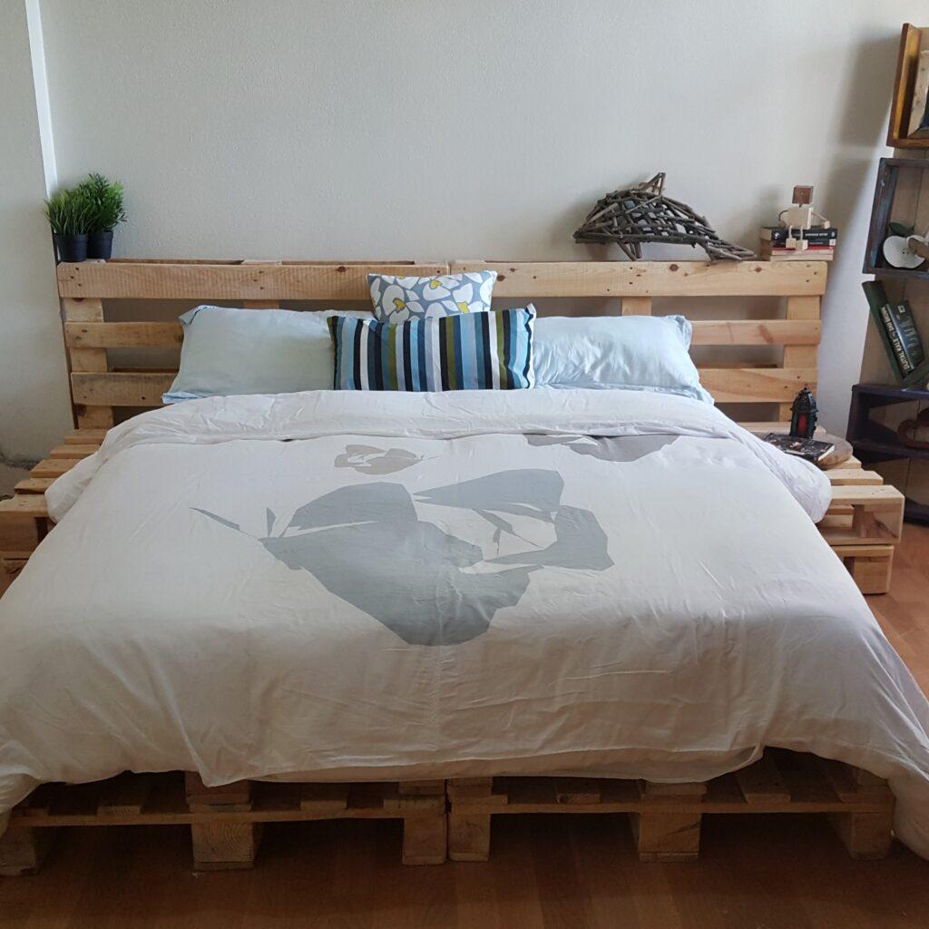 çift kişilik palet yatak modeli