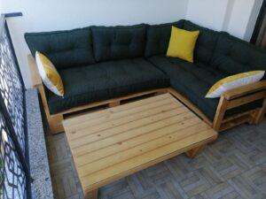 palet koltuk ve sehpa